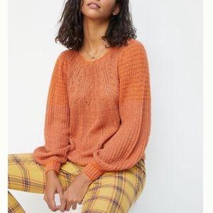 Anthropologie Lindsay Pointelle Knitwear Sweater